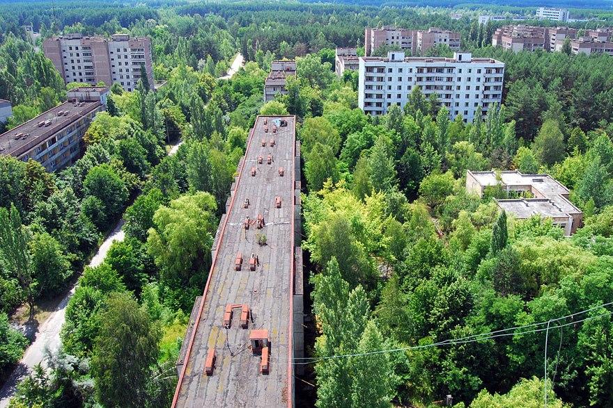 Покинутый радиоактивный город Припять, Украина.