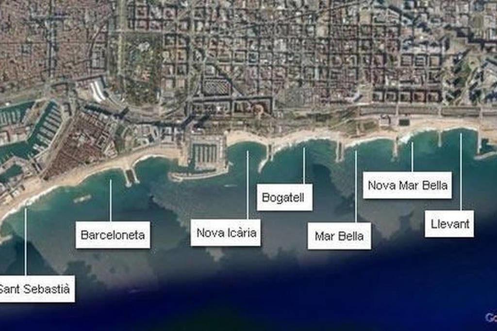 пляжи Барселоны Схема