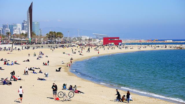 олимпийский пляж барселоны Bogatell