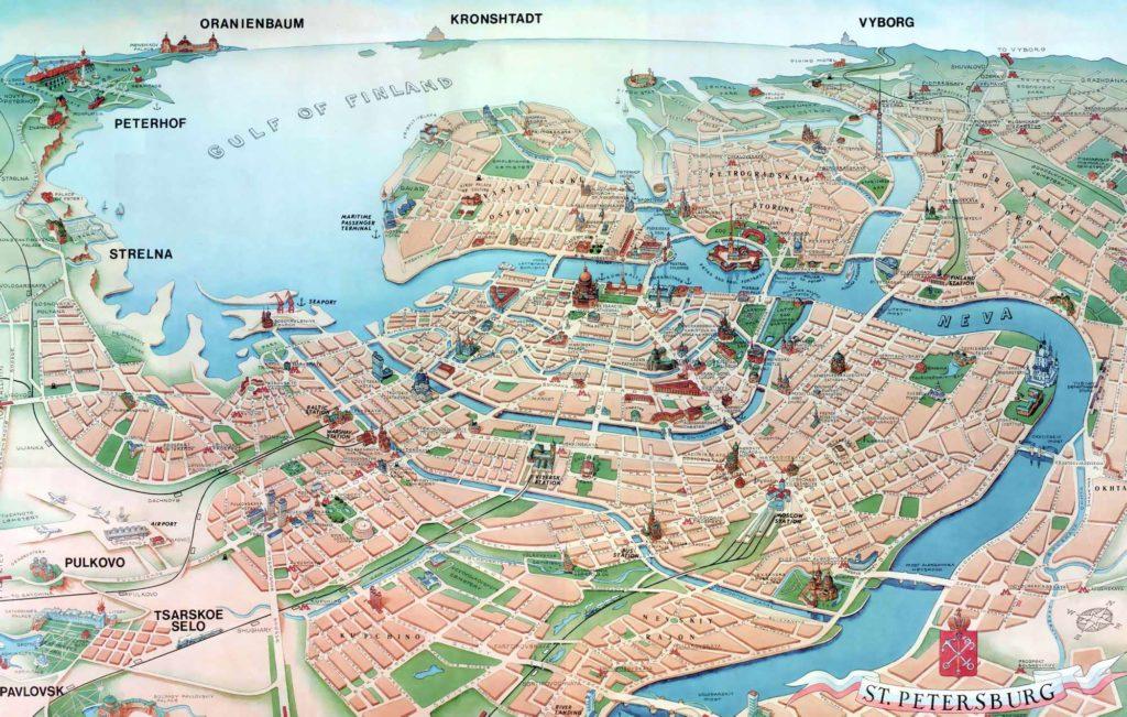 Туристическая карта Петербурга