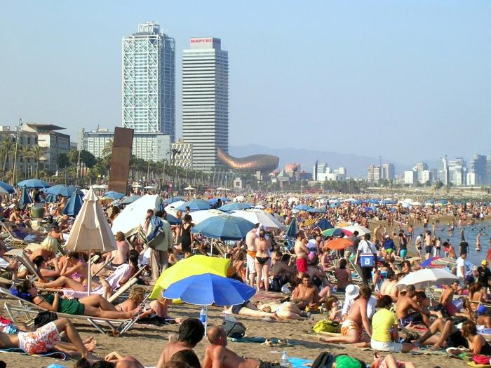 пляж Барселоны - Sant Sebastiа