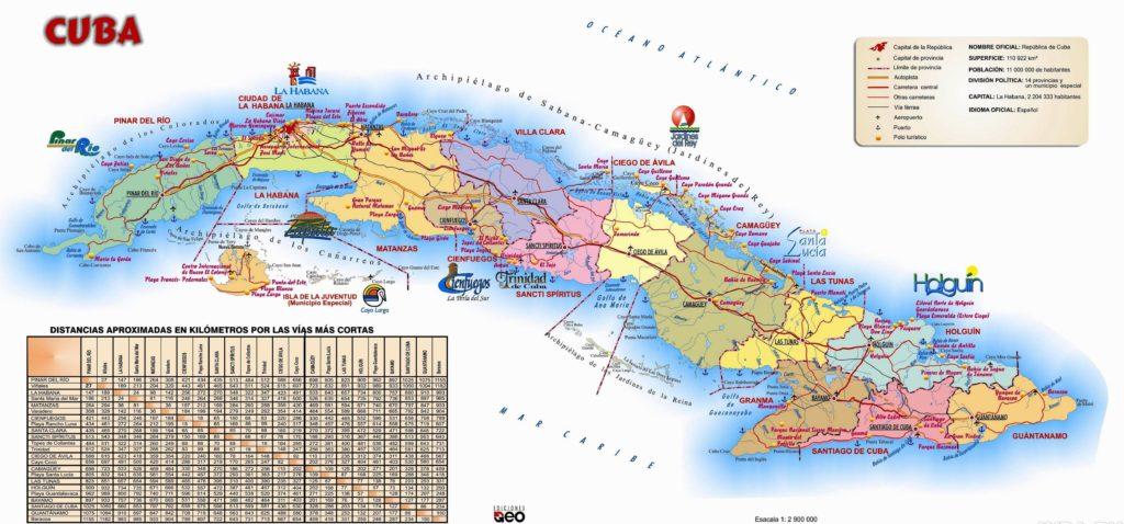 Карта острова Куба 2