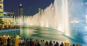 фонтаны в Дубаи
