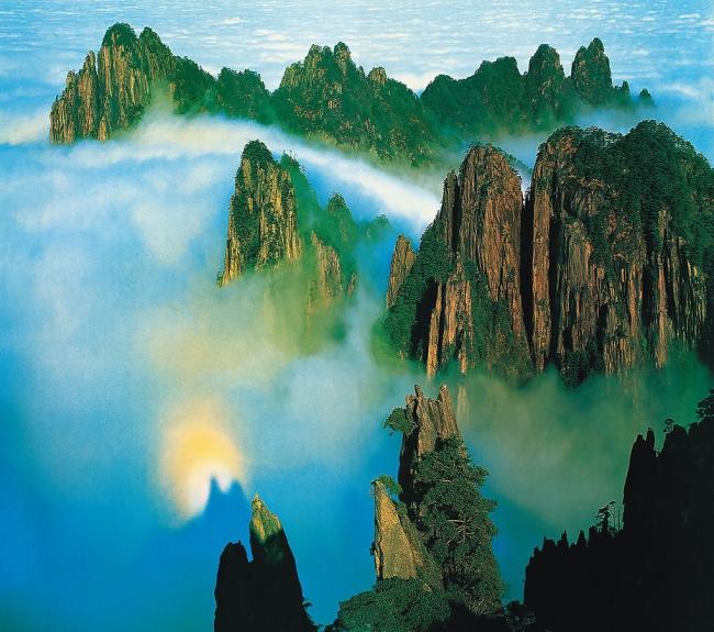 Горная гряда Хуаншань