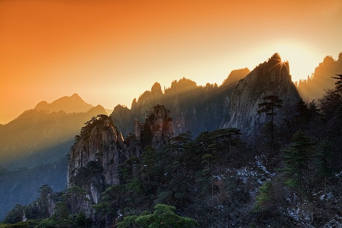 Желтые горы Хуаншань в Китае - тропа смерти и мост бессмертных, как добраться по карте