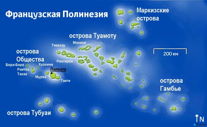 острова французской полинезии