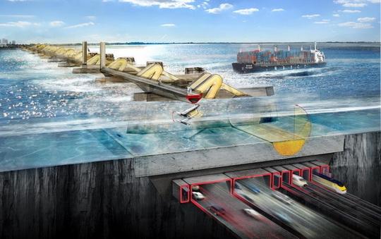 Схема работы барьера на Темзе