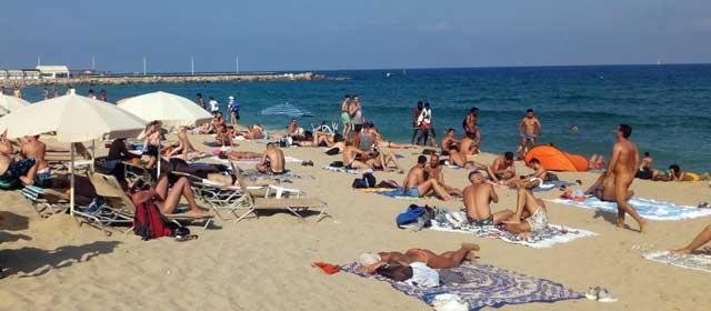Nova Mar Bella пляж барселоны
