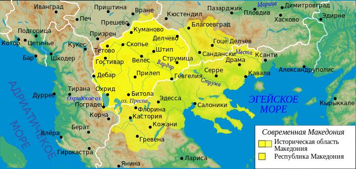 Македония на карте
