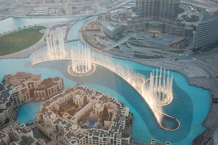 Танцующие и поющие фонтаны в Дубае: фото и видео музыкальных фонтанов
