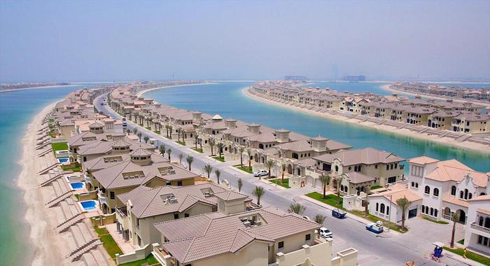 Пальма Джумейра в Дубае (ОАЭ) - история строительства, современный вид острова на фото