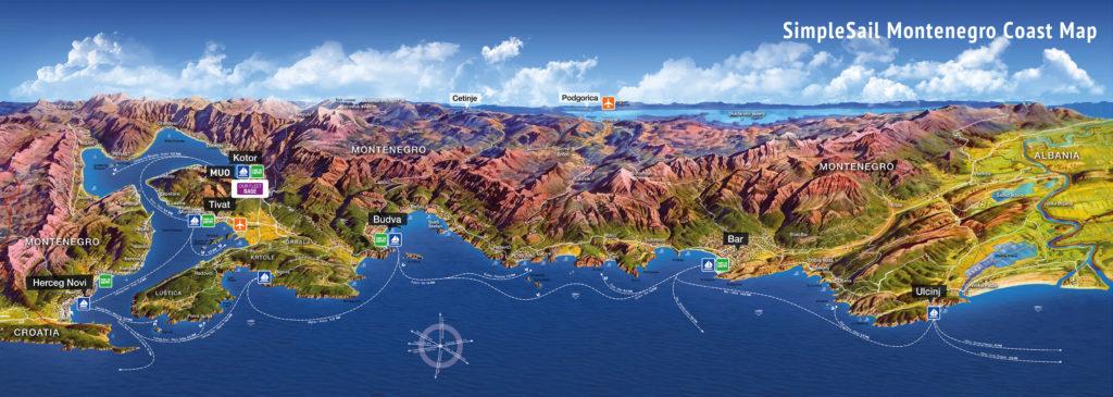 3D модель побережья Черногории